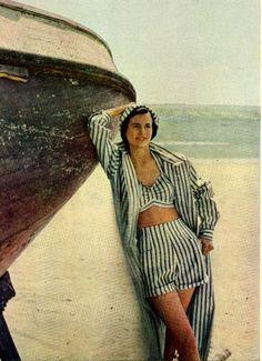 Vintage designer swimwear advertisement 1948 summer fashion. Too cool!