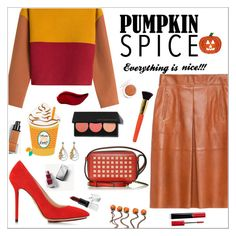 """""""Pumpkin Spice Style"""" by alinepinkskirt ❤ liked on Polyvore featuring Philosophy di Lorenzo Serafini, Boohoo, Smashbox, Charlotte Olympia, Reed Krakoff, claire's, Bubbly Bows, Barry M, Burberry and Giorgio Armani"""