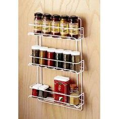 Spice rack for cabinet interiors
