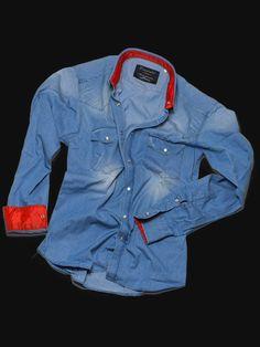 Camicia inserti rossi