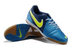 Chaussures de foot nike CTR360 Libretto III IC Bleu Jaune pas cher