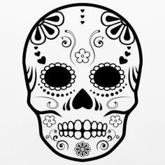 simple sugar skull designs - Google Search