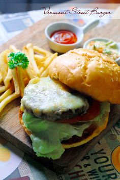 american burger style in capatil restaurant