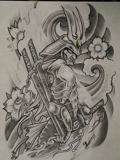 Samurai Dragon Tattoo Design