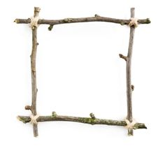 Get festive with sticks! A stick picture frame will make a great Christmas present. All you need are four sticks of a similar length. To begin, lay the four sticks out in a square - making sure they overlap at the ends. Then tie the overlapping sticks together with string. Decorate your frame with natural materials like leaves, small pine cones or features.