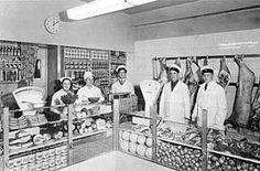 Pircklènin kauppa 1950 luvun alussa sisältä. Helsingin Lihakauppiasyhdistys Helsinki, Time Travel, Finland, Historia