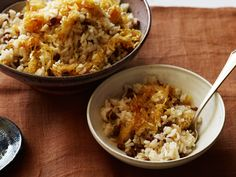 Caramelized Onions and Lentil Rice recipe from Ingrid Hoffmann via Food Network