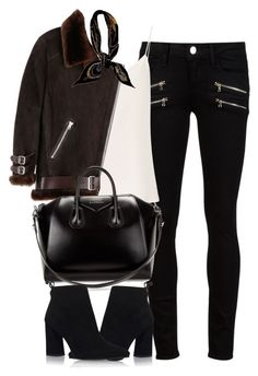 """Untitled #4129"" by london-wanderlust ❤ liked on Polyvore featuring Paige Denim, Raey, Acne Studios, Hermès, Givenchy and Stuart Weitzman"