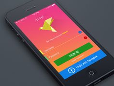 Login Postcard iphone App  by Yasser Achachi