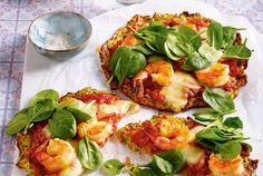 Unser beliebtes Rezept für Zucchini-Crust-Pizza mit Knoblauchgarnelen und mehr als 55.000 weitere kostenlose Rezepte auf LECKER.de.
