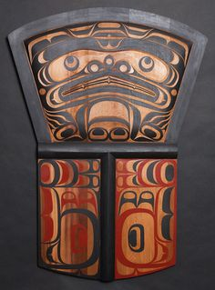 Bear Copper Panel by Trevor Hunt - Northwest Coast wood carving
