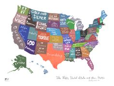 The Fifty United States and Their Mottos by Emily Wick