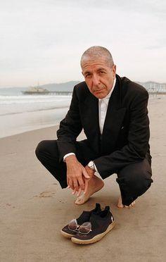 Leonard Cohen by Marcel Hartmann, 1997, Cannes.