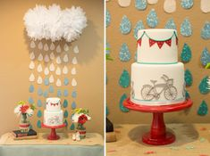 So many cute ideas in this post!  A Bicycle Themed Baby Shower in Red and Turquoise | The Little Umbrella