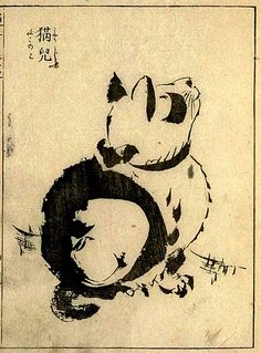 Morikuni 1679-1748, Tachibana, Japan, Osaka                      Neko Cat