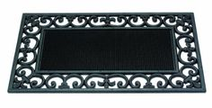 Gardman 8525 Sole Searcher Rubber Door Mat, 30-Inch by 18-Inch by Gardman. $14.87. Open scroll work effective at trapping dirt and debris. Cast iron style. Rubber construction prevents slipping. Decorative solid rubber construction, in a cast iron style. Suitable for all outdoor locations. Perfect where both practicality and appearance are important. Very tough and durable.