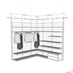 Elemento angolare per cabina armadio Joyce - ARREDACLICK
