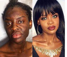 This Artist Demonstrates the True Power of Makeup Beauty Make-up, Beauty Hacks, Hair Beauty, Dark Skin Makeup, Hair Makeup, Natural Makeup, Makeup Makeover, Beauty Makeover, Makeup Before And After