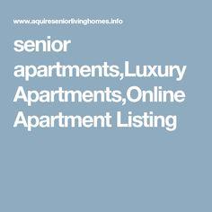 senior apartments,Luxury Apartments,Online Apartment Listing Senior Apartments, Luxury Apartments, Apartment Listings, Hair Cleanse, Apartments