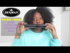Denman Thermoceramic Straightening Brush Review + Demo | Natural Hair