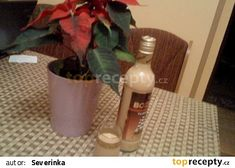 Karamelový likér - latté recept - TopRecepty.cz Latte, Glass Vase, Latte Macchiato