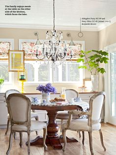 BHG digital article featuring the home of @Edie Wadsworth {with Fieldstone Hill Design design boards!}
