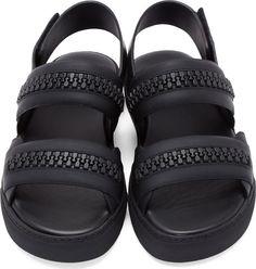 Givenchy Black Zipped Skate Sandals