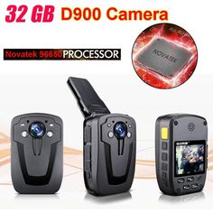 [Visit to Buy] Blueskysea D900 Novatek 96650 32GB Full HD 1080P Police Body Lapel Worn Video Camera Recorder DVR IR Night Cam 6-hour Record #Advertisement