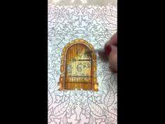 Pintando o Livro Jardim Secreto com Lápis Aquareláveis- Secret Garden+ watercolor pencil - YouTube