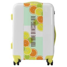 Citrus Fruits Original Design Personalized Carry On Luggage Suitcase for Your Next Travel!