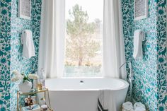 How To Get This Bold, High-End Bathroom Look on a Budget