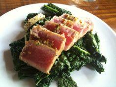 Tonijn - The Last Supper- Seared Tuna Steaks with Lemon-Rosemary Butter from Herman den Blijker.  Recipe: http://youtu.be/56Gropj54WM