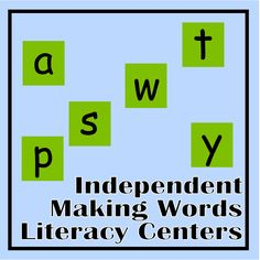 Independent Making Words Literacy Centers