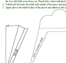 Make These Blank, Easily Decorated Envelope Templates Your Next Crafts Project: Purse Envelope