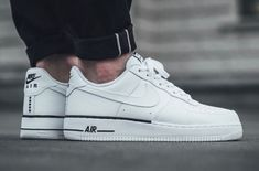 White Tumbled Leather Covers The Nike Air Force 1 Low