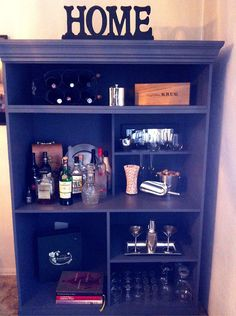 Finished my armoire bar! #barcart #armoirebar #diy