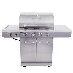 $229 - LOWES - Char-Broil Silver 4-Burner (30000.0-BTU) Liquid Propane Gas Grill with Side Burner