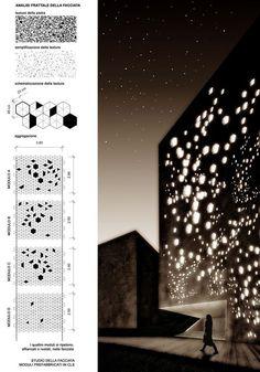 Parcheggio in località Longea Detail Architecture, Parametric Architecture, Parametric Design, Architecture Board, Contemporary Architecture, Interior Architecture, Parametrisches Design, Facade Design, Building Skin