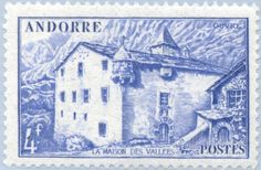 Stamp%3A%20Old%20city%20hall%20of%20Andorra%20la%20Vella%20(Andorra%2C%20French%20Administration)%20(Landscapes)%20Yt%3AAD-FR%20107%2CMi%3AAD-FR%20111%2CSn%3AAD-FR%2092%2CSg%3AAD%20F113%2CEdi%3AAD-FR%20109%20%23colnect%20%23collection%20%23stamps
