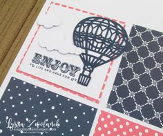 Up and Away hot air balloon pages scrapbook scrapbooking stampin up sizzix Lyssa papers 12x12