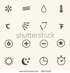 Air conditioning icons - stock vector