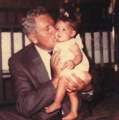 Lisa Marie Presley and her grandfather Vernon Presley