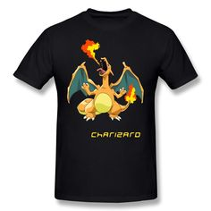 MKSD Funny Pokemon Charizard Design T-shirt For Men