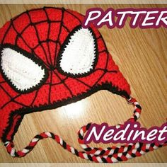 Spiderman inspired crochet hat pattern.