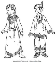 native american children colouring page - Colouring Pages Children