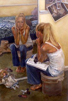 Advanced Higher Art, People Reading, Art Alevel, Satirical Illustrations, Cross Art, Mirror Art, Mirror Image, Ap Art, Realism Art