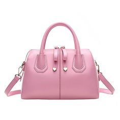 Split Seam Tote With Buckle Bow Detail ($26) ❤ liked on Polyvore featuring bags, handbags, tote bags, pink, studded handbags, bow handbag, bow tote, pink tote bag and pink studded purse