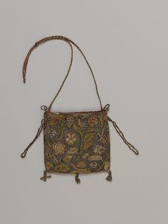 Purse (Image 2) | British | early 17th century | canvas, silk | Metropolitan Museum of Art | Accession #: 64.101.1263