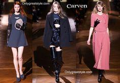 Carven fashion fall winter 2014 2015 womenswear clothing