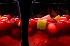 Spiced Cranberry Sangría Recipe:  cranberries, granny smith apples, port wine